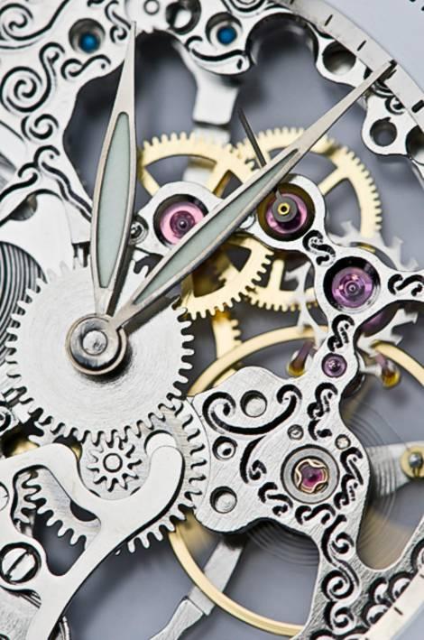 Räderwerk einer Uhr