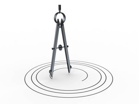Ein Zirkel zeichnet Kreise