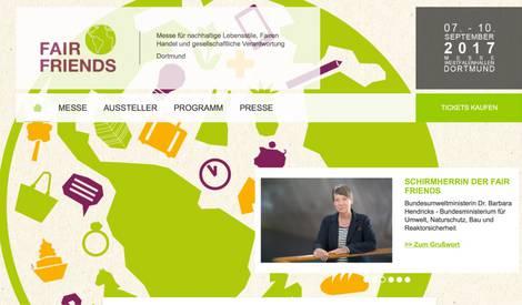 Screenshot der Website Fair-friends.de