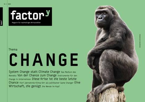 Titelbild des factory-Magazins Change