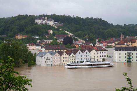 Flood in the old town of Passau, June 2013.