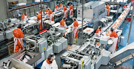 Lebensmittelindustrie Produktionsanlage