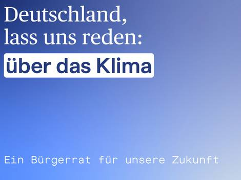 Screenshot der Website des Bürgerrats Klima