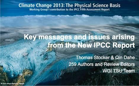 Ausschnitte 5. IPCC-Bericht, 1. Teil
