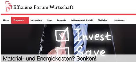 Screenshot Effizienz Forum Wirtschaft 2015