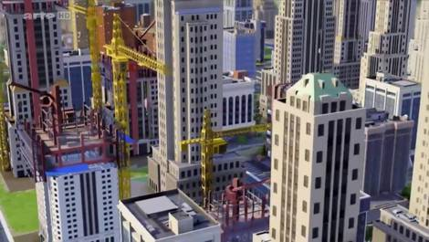 Ausschnitt Arte-Video Städte der Zukunft, Sim City