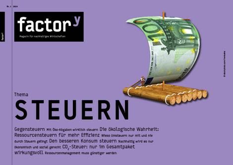 Titel des factory-Magazins Steuern