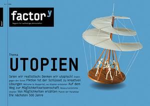 """Titelbild des Magazins """"Utopien"""", Download bei Klick"""