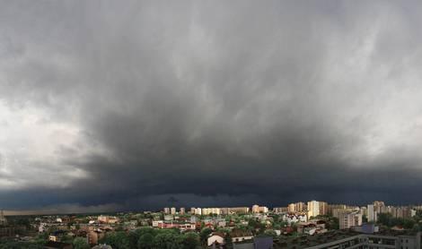 Unwetter über Prag
