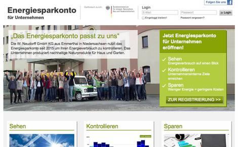 Screenshot der Website unternehmen.energiesparkonto.de