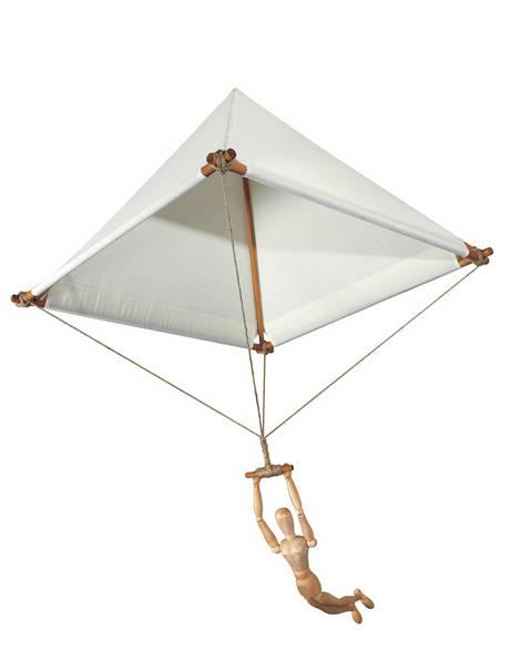 Fallschirmmodell nach Leonardo da Vinci