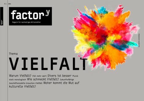 Titelbild des factory-Magazins Vielfalt