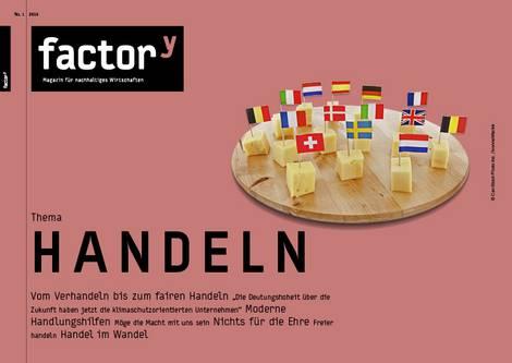 Titel des factory-Magazins Handeln