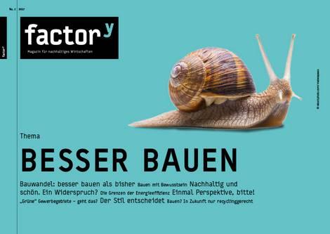 """Titel des factory-Magazins """"Besser bauen"""""""