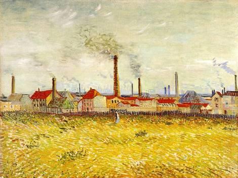 Bild einer Landschaft mit Fabriken von Van Gogh