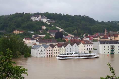 Hochwasser in der Passauer Altstadt 2013