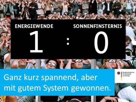 BMWi-Bild: Eins zu null für Energiewende gegen Sonnenfinsternis