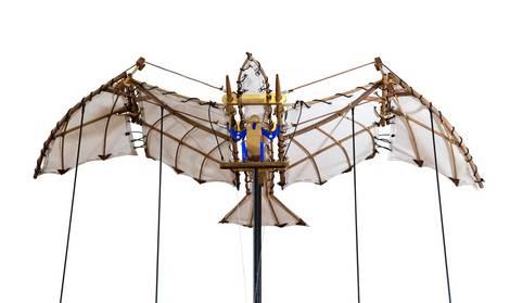Flugmodell nach Zeichnungen von Leonardo da Vinci