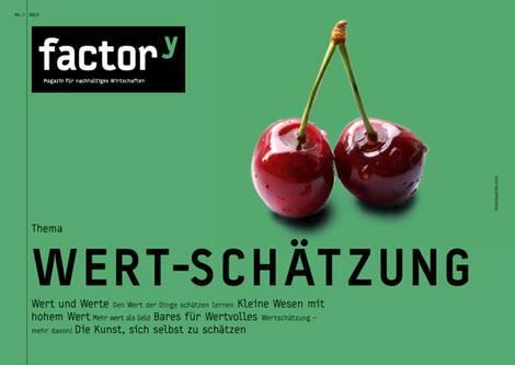"""Titelbild des factory-Magazins """"Wert-Schätzung"""""""