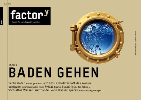 """Titelbild des factory-Magazins """"Baden gehen"""""""
