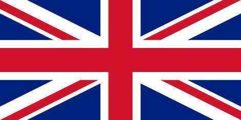 The english flag as a sign for the english language