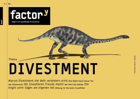 Titel des factory-Magazins Divestment