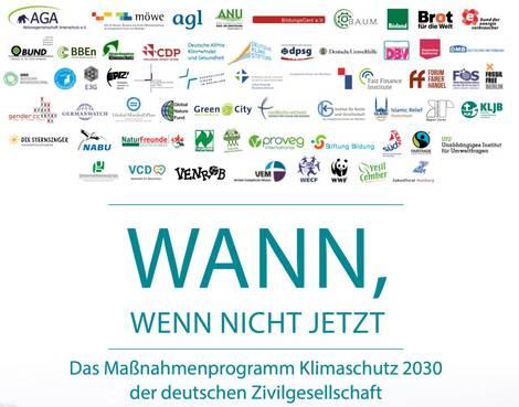 Titel des Klimaschutzprogramms der Zivilgesellschaft 2030
