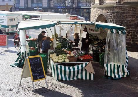 Biomarktstand Bonn
