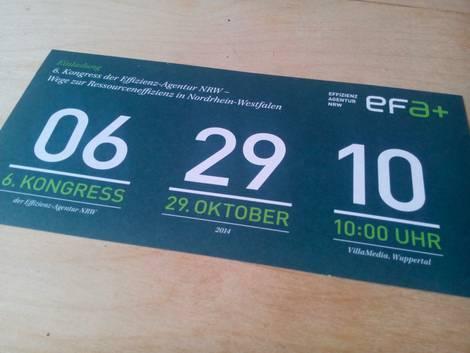 Abbildung der gedruckten Einladung zum EFA-Kongress 2014