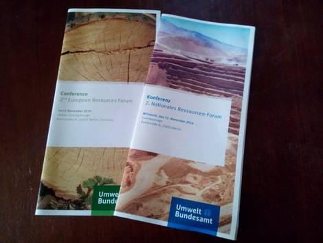 Einladungsflyer der UBA-Konferenzen ERF und NRF 2014