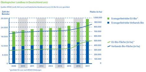 Grafiken und Statistiken zur Biolandwirtschaft in Deutschland, Europa und weltweit
