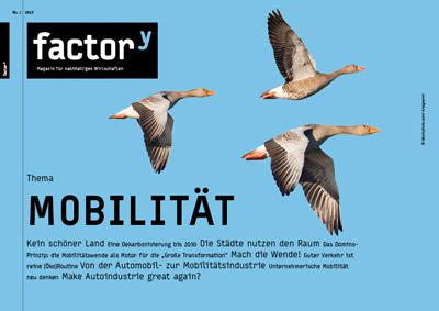 Titel des factory-Magazins Mobilität